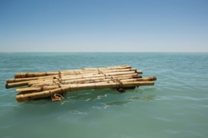 200200451-001-bamboo-raft-floating-in-sea-gettyimages
